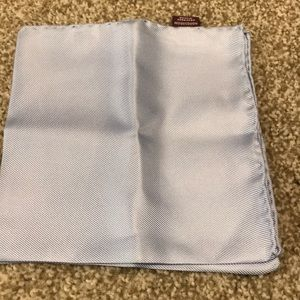 Nordstrom light blue 100% silk pocket square